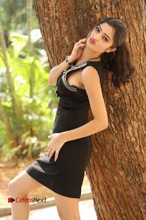 Actress Poojitha Pallavi Naidu Stills in Black Short Dress at Inkenti Nuvve Cheppu Movie Platinum Disc Function  0034.JPG