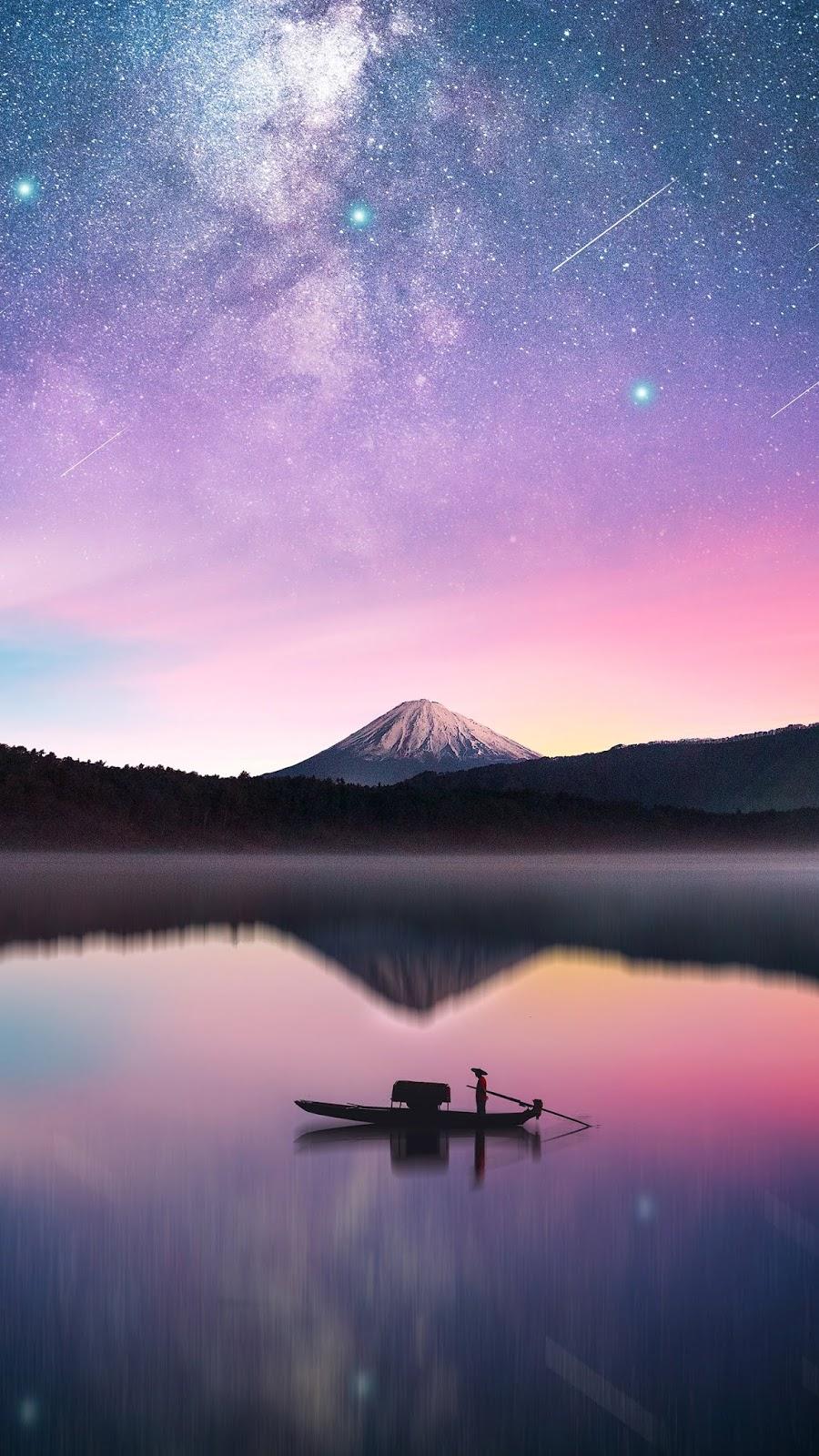 Milky way in mount Fuji wallpaper