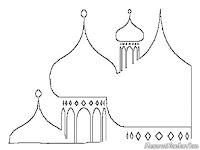 Gambar Mewarnai Kubah Masjid