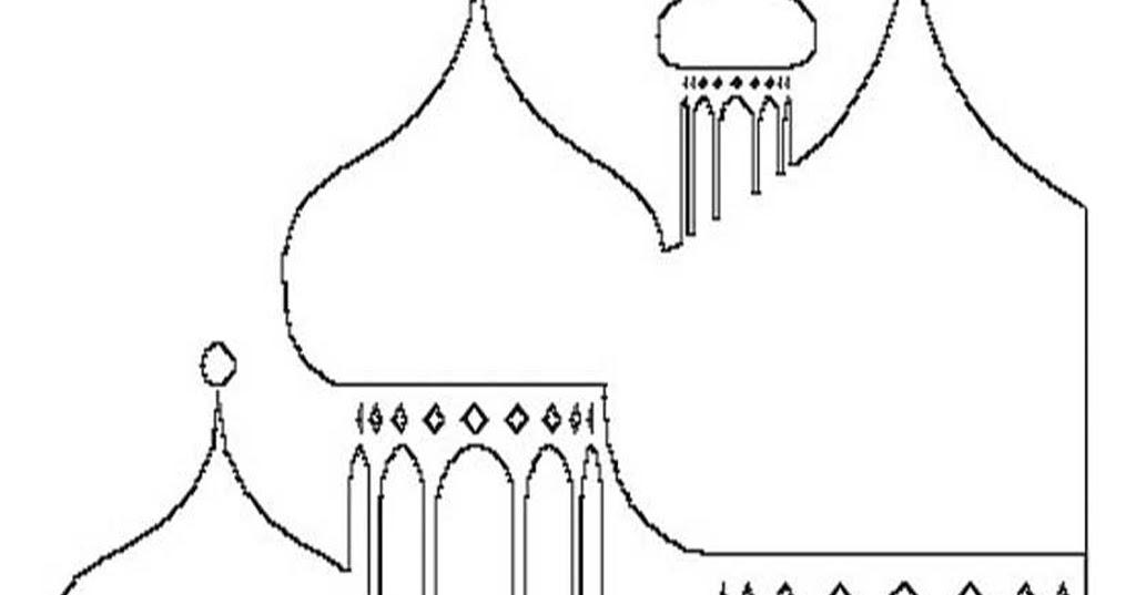 Kartun Sketsa Kubah Masjid Nusagates