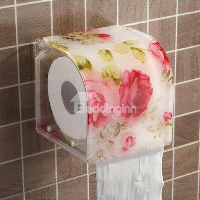Floral Prints Bathroom Tissue Dispenser