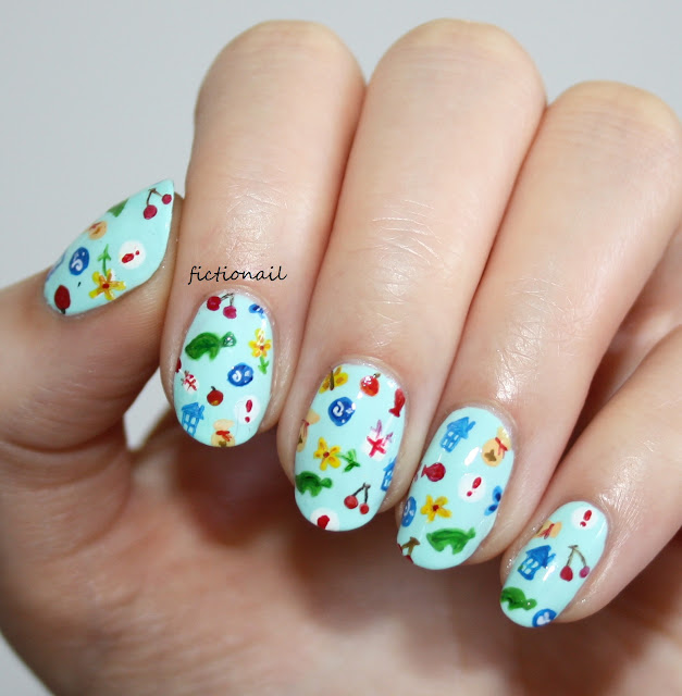 Animal Crossing Nail Art