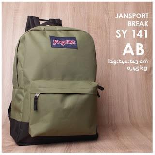 jual online Tas Ransel Jansport KW Polos Model Terbaru - Break SY 141