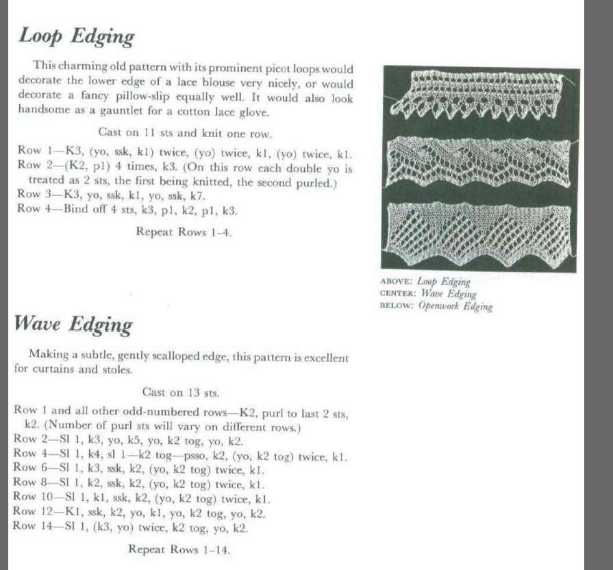 Loop Edging, Wave Edging