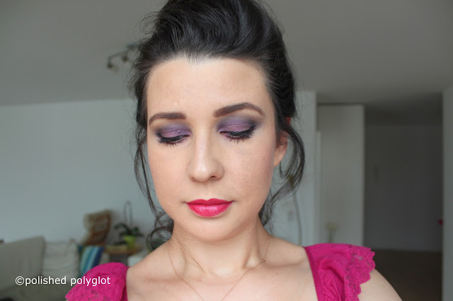 Makeup │ Intense purple and blue smokey look