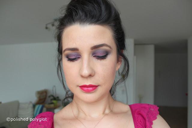 Makeup │ Intense purple and blue smokey look