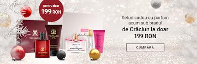 Seturi cadou cu parfum acum sub bradul de Crăciun la doar 199 RON