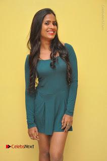 Telugu Actress Prasanthi Stills in Green Short Dress at Swachh Hyderabad Cricket Press Meet  0049.JPG