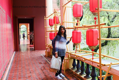 Standing at the Museum entrance in Lou Lim Ieoc Garden of Macao, a beautiful Chinese theme park of Macao, tourist place