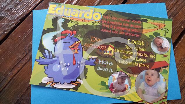 Convite Padrão - Galinha Pintadinha