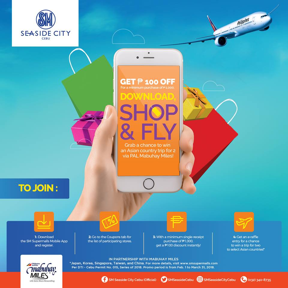 Download SM Supermalls Mobile App & Get a Chance to Win A Trip to Asia for Two!