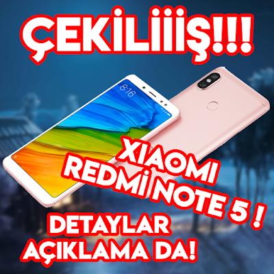 Xiaomi Redmi Note 5 Plus Çekilişi !