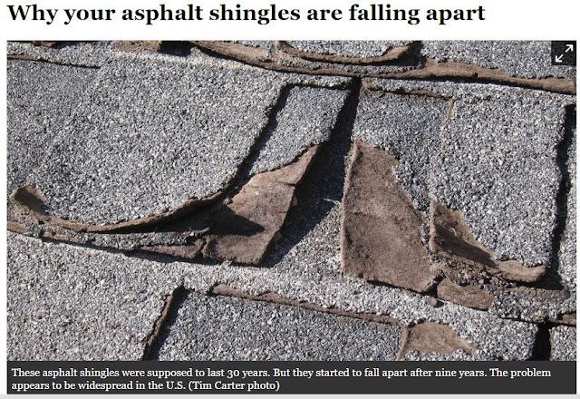 Asphalt Roof Failure