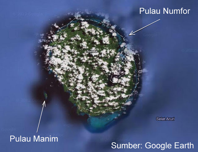 Pulau Numfor di Teluk Cendrawasih