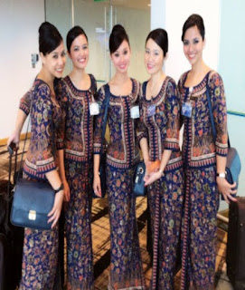 baju batik pramugari garuda