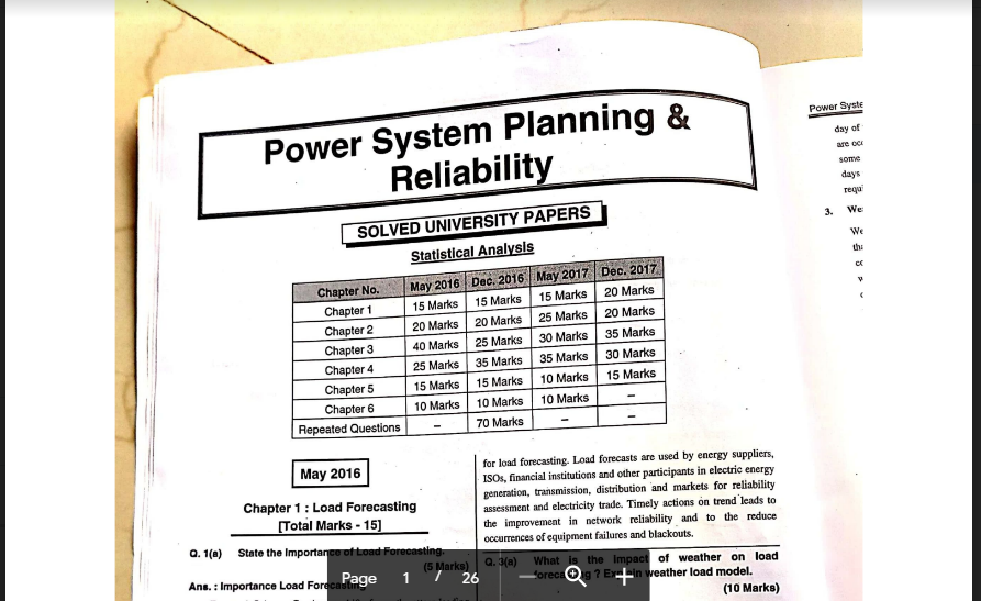 Mumbai University Sem 8 Electrical Notes & EASY Solutions MU