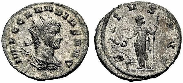 Antoniniano del emperador romano Claudio Gótico