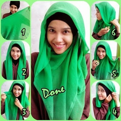 Tutorial hijab paris segitiga untuk sekolah