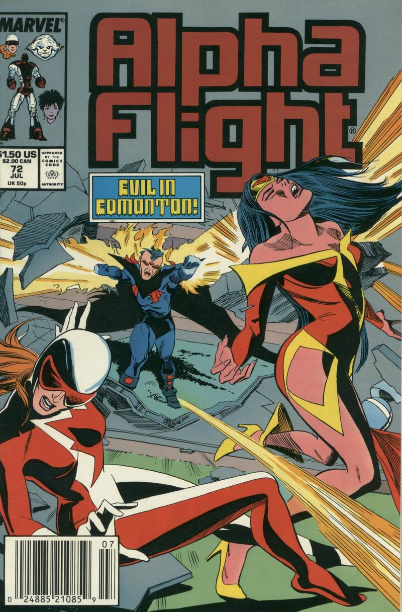 Read online Alpha Flight (1983) comic -  Issue #72 - 1