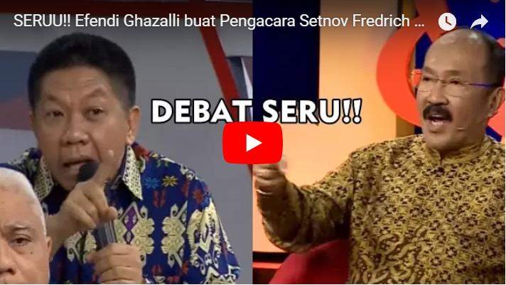 JLEB! VIDEO Debat Seru: Pengacara Setnov Fredrich Yunadi Dibuat Terdiam oleh Effendi Gazali