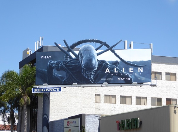 Alien Covenant extension cut-out billboard