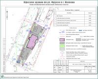 Проект офисного здания по ул. Фрунзе г. Иваново. Схема планировочной организации земельного участка
