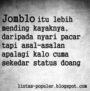 Gambar Foto DP BBM Jomblo Galau Sedih Lucu