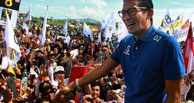 Kampanye di Surabaya, Sandiaga Sebut Ahmad Dhani Pejuang Demokrasi