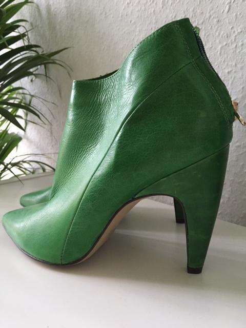 Ankleboots grün green shoes Schuhe Maastricht Noe Shop Highheels Pumps