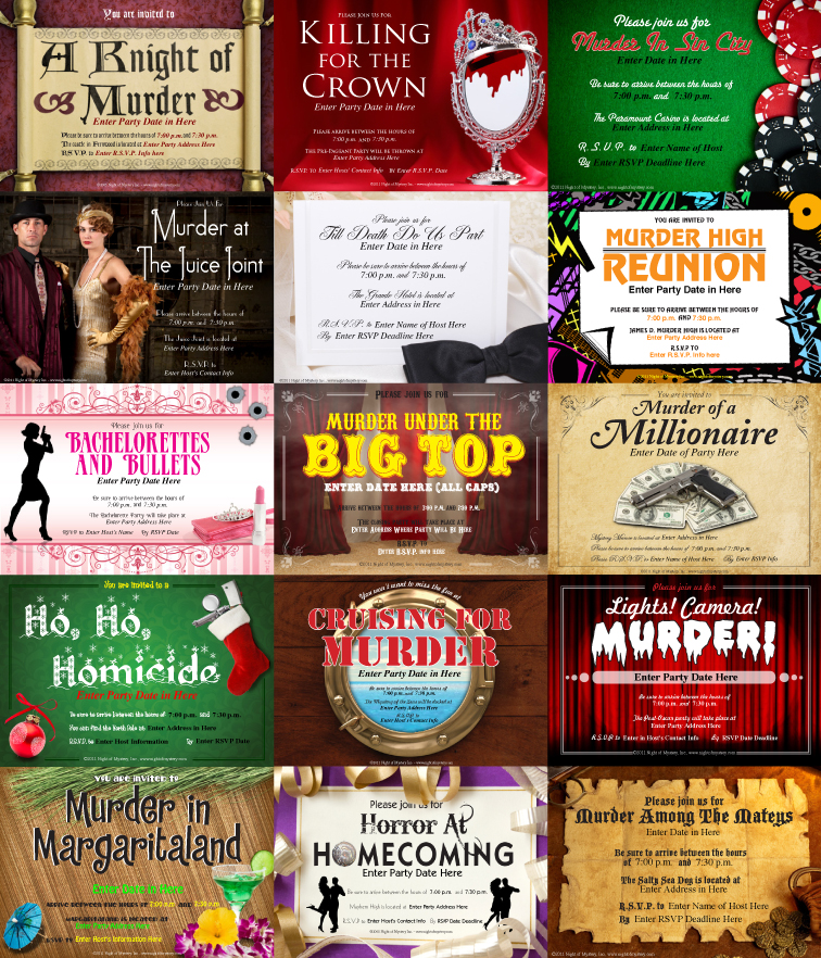 Best Murder Mystery Dinner Free: Night Of Mystery: Downloadable Murder Mystery Party