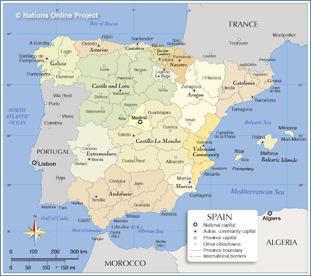 خريطة اسبانيا Spain Map