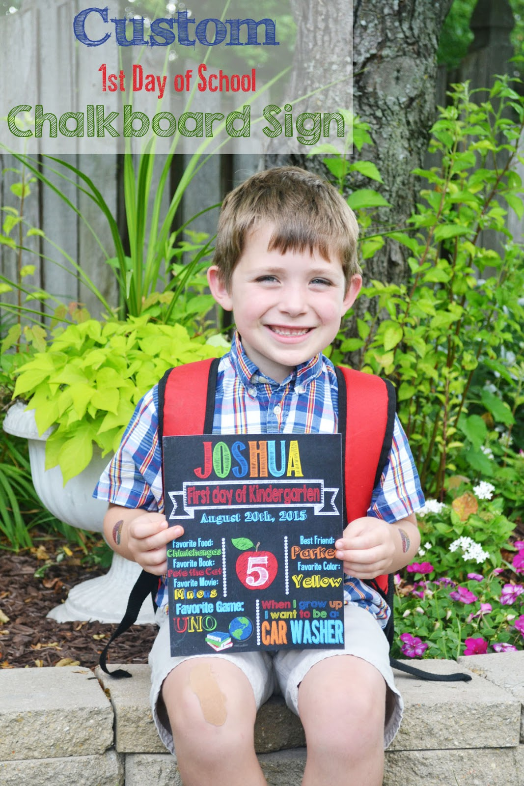 first day of school photo shoot ideas - A Manda Creation First Day of School Ideas and a