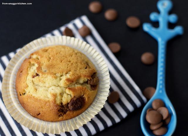 Chocolate Chip Muffins im Bakery Stlye