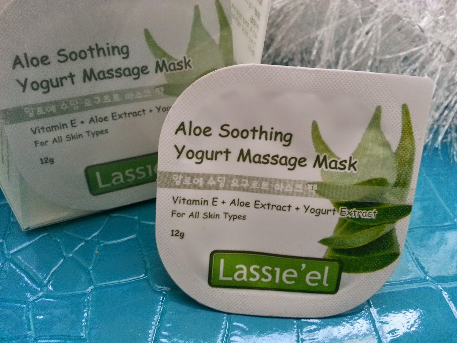 aloe soothing mask, 4 packs close up