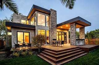 contoh desain model teras rumah mewah modern | tips bebas