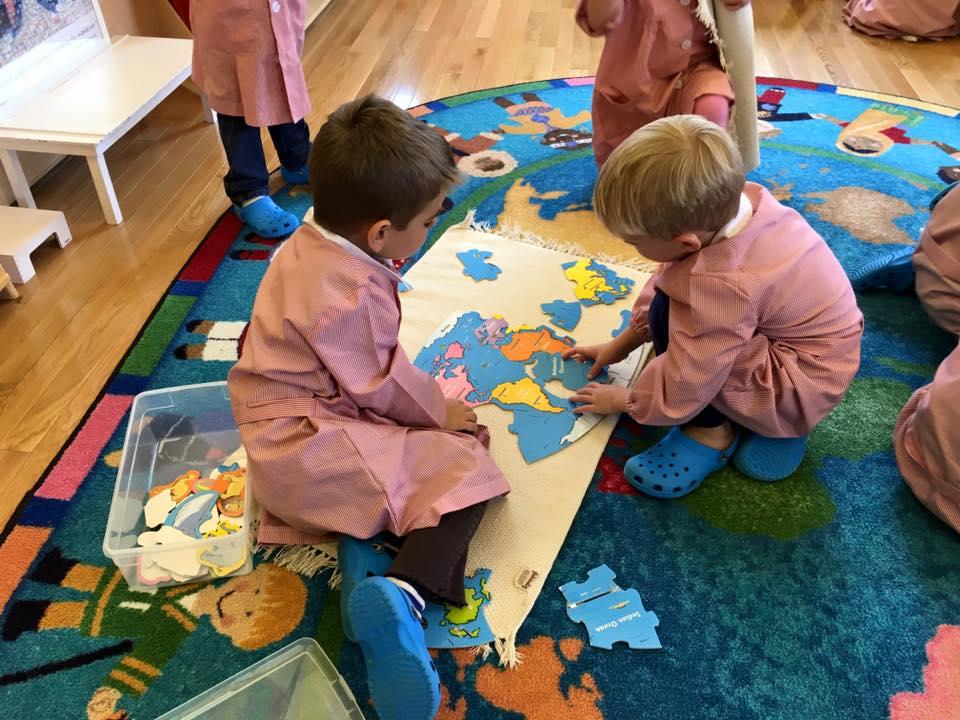 Montessori preparing a child for the