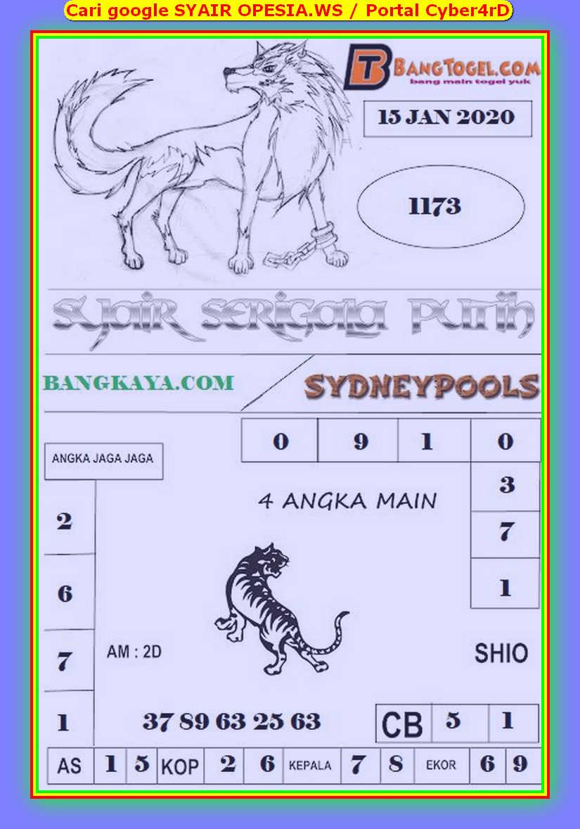 Kode syair Sydney Rabu 15 Januari 2020 142