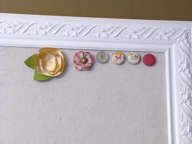 DIY magnetic bulletin board