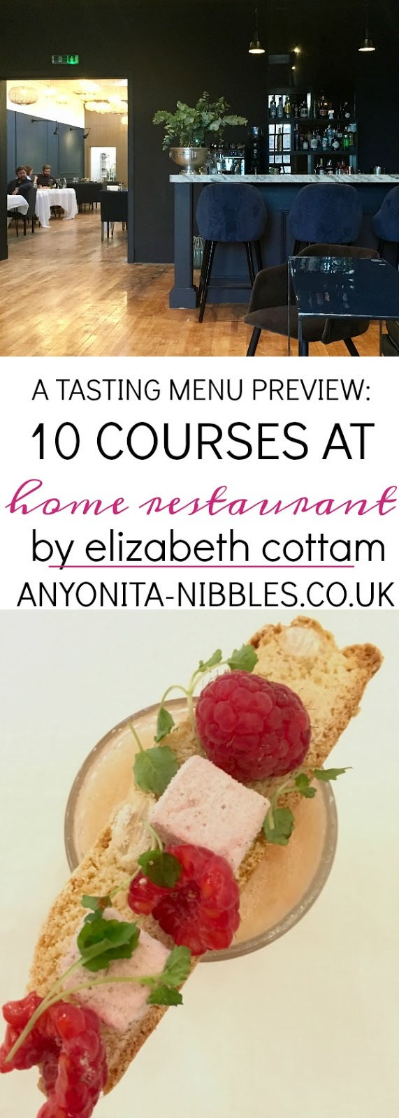 A preview of the 10 course tasting menu served at Liz Cottam's Home