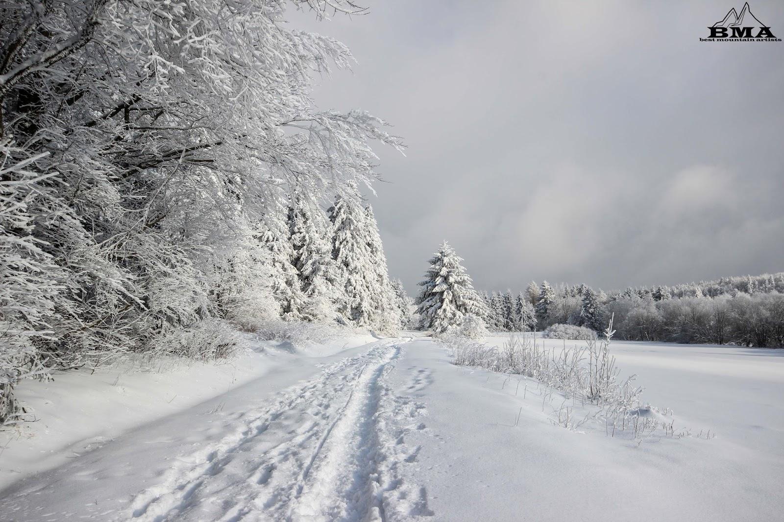 Schneehöhe Vogelsberg