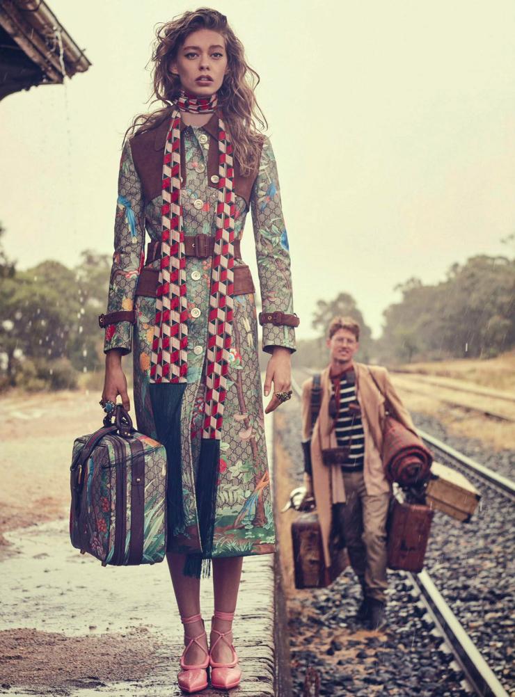 Gucci in fashion magazines