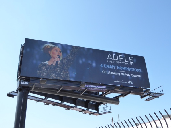Adele Live New York 2016 Emmy billboard