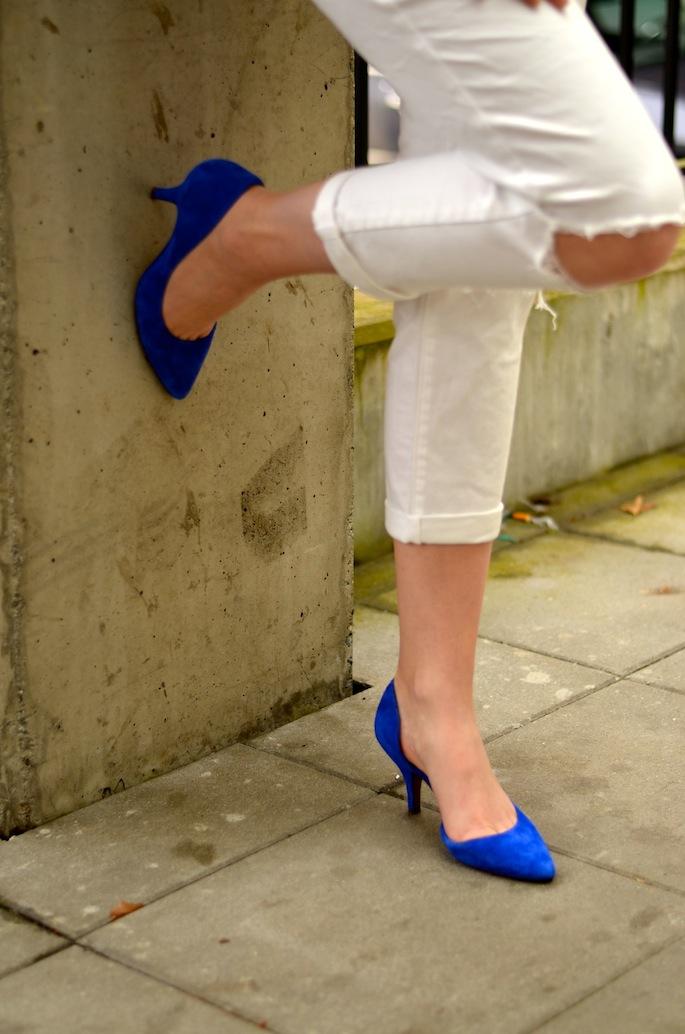 Cobalt Blue Kitten Heels