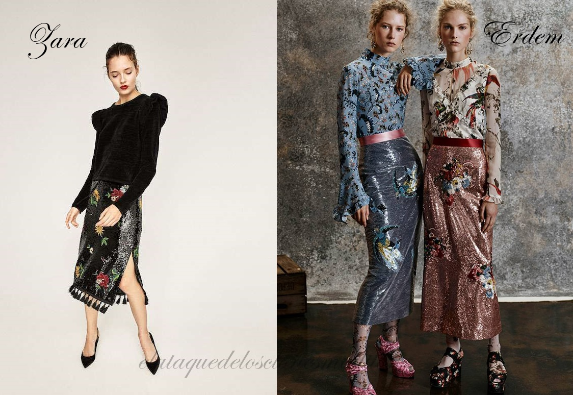 1ed6791e7 Inspiración falda lentejuelas Erdem, por Zara | El ataque de los ...