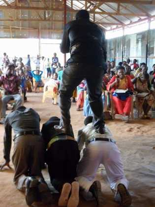 Photos Of Tanzanian Pastor Whose Legs Cannot Touch The Ground While Preaching!