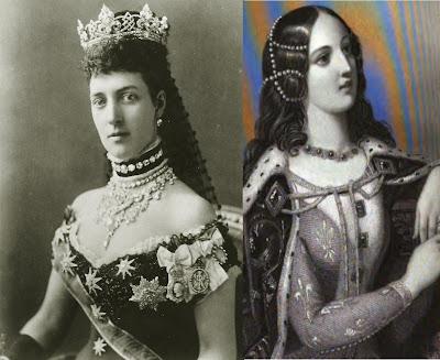 Queen Alexandria of Denmark and Queen Isabella of Valois