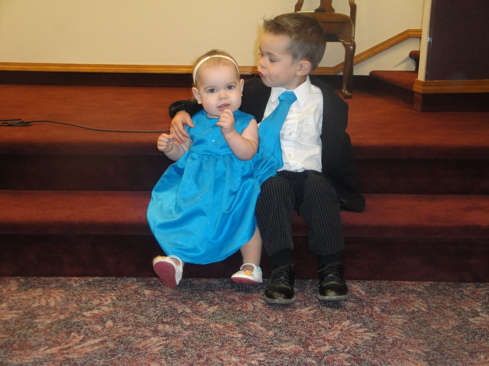 55b9a69740ece As promised, here are some more pictures of the kiddos in their new duds.  You'll have to forgive the so-so photos, they were taken with my point &  shoot and ...