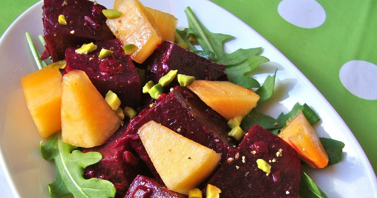cooketteria rote beete salat mit persimonen. Black Bedroom Furniture Sets. Home Design Ideas