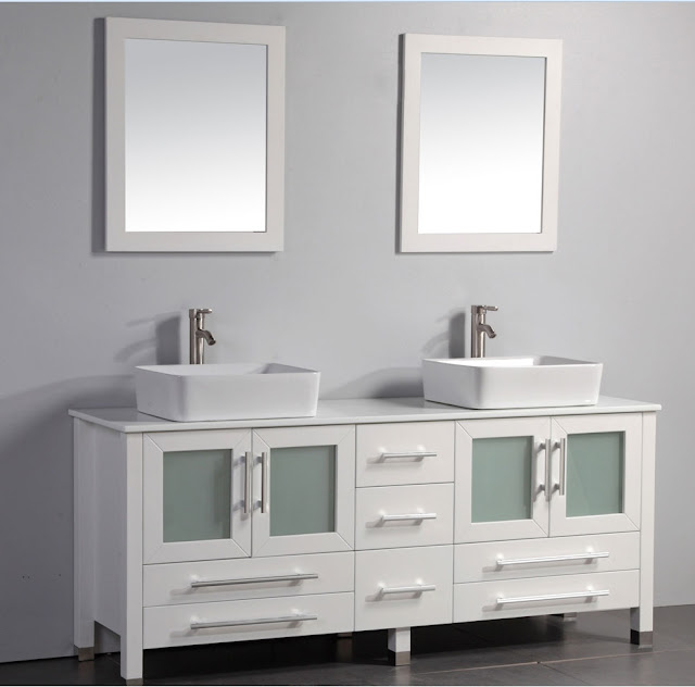 Antique bathroom vanities contemporary bathroom vanities bring chic for less for Modern bathroom vanities for less