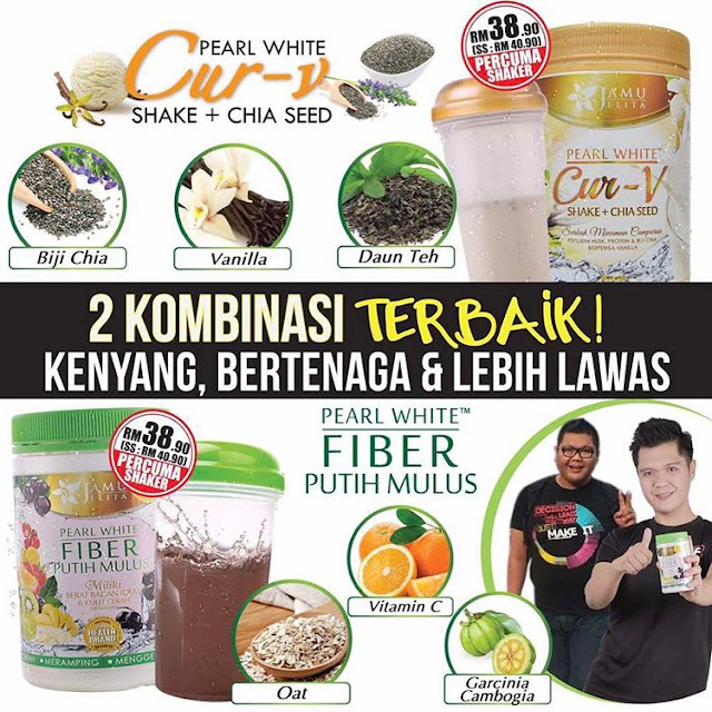 Pearl White Cur-V Shake + Chia Seed